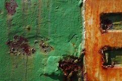 detalj av en metallvägg Royaltyfri Bild