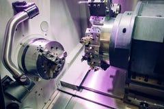 Detalj av en modern CNC-maskin royaltyfri foto