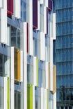 Detalj av en modern kontorsbyggnad, Peking, Kina Fotografering för Bildbyråer