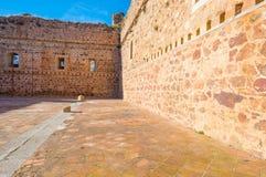 Detalj av en slott i solljus royaltyfria bilder