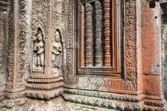 Detalj av en tempelvägg Royaltyfri Fotografi