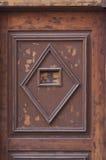 Detalj av en trädörr Royaltyfri Bild