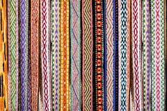 Detalj av en traditionell litauisk väv Arkivbild