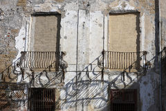 Detalj av en vägg Arkivfoton
