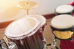 Detalj av en valssats för att spela musik Arkivfoton