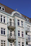 Detalj av ett Art Nouveau radhus arkivfoto