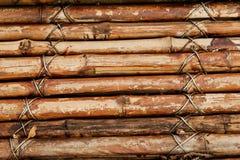 Detalj av ett bambustaket Arkivbild
