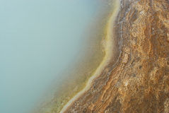 Detalj av ett damm i geysirområde, Island Royaltyfri Bild