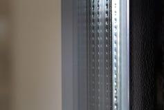 Detalj av ett dubbelt exponeringsglas som används för isolering Arkivfoton