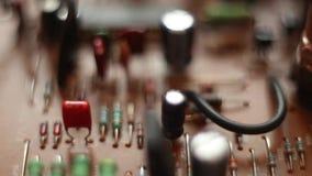Detalj av ett elektroniskt br?de f?r utskrivaven str?mkrets arkivfilmer
