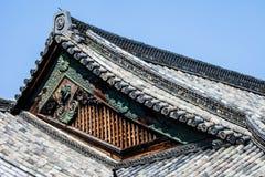 Detalj av ett japanskt tak Arkivbild
