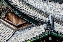 Detalj av ett japanskt tak royaltyfria bilder