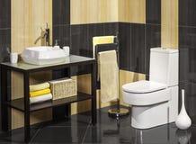 Detalj av ett modernt badrum med vasken royaltyfria bilder