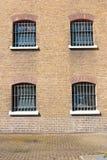 Detalj av ett tidigare fängelse Arkivbilder