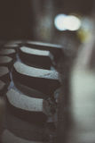 Detalj av ettväg gummihjul Arkivbild