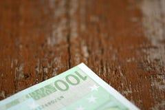Detalj av europengarsedlar Royaltyfria Foton