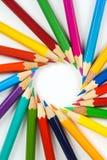 Detalj av färgpennor Royaltyfria Bilder