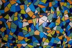 Detalj av färgrik glass keramisk mosaikbakgrund Arkivbild