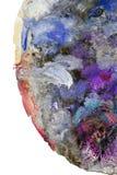 Detalj av färgrika slaglängder av målarfärgbollen Arkivbilder