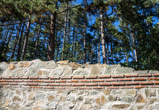 Detalj av fästningväggen Hisarlaka Arkivbild