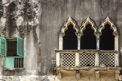 Detalj av fönstret & portaler - zanzibar arkivbild