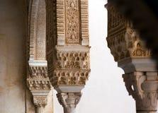 Detalj av förgyllt rum (den Cuarto doradoen) av Alhambra granada Fotografering för Bildbyråer