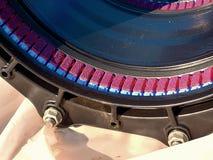 Detalj av förseglingssystemet mång- gemensamma medlemmar 500mm för svart waga Arkivbild