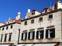 Detalj av fasaden i Dubrovnik Fotografering för Bildbyråer