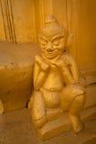 Detalj av forntida Burmese buddistiska pagoder Royaltyfria Bilder