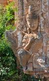 Detalj av forntida Burmese buddistiska pagoder Arkivfoton