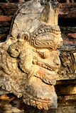 Detalj av forntida Burmese buddistiska pagoder Arkivbilder