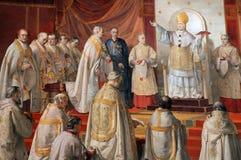 Detalj av freskomålningen i Raphael Rooms Royaltyfri Fotografi