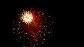 Detail of fireworks Stock Footage