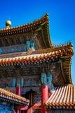 Detalj av gammal byggnad i Forbidden City arkivfoton