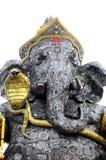 Detalj av Ganesha, gud av hinduiskt, stål Royaltyfri Bild