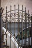 Detalj av gjorda uteplatsdörrar Royaltyfri Foto