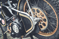 Detalj av gummihjul arkivfoton