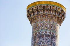 Detalj av Gur-E Amir Mausoleum, i Samarkand, Uzbekistan fotografering för bildbyråer