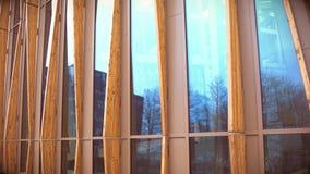 Detalj av hållbar akademibyggnad arkivfoton
