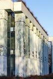 Detalj av högsta domstolenbyggnad i Warszawa Arkivbilder