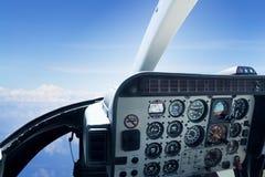 Detalj av helikoptercockpiten Fotografering för Bildbyråer