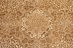 Detalj av islamisk (morisk) tilework på Alhambraen, Granada, Spanien Fotografering för Bildbyråer