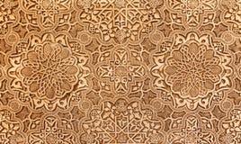 Detalj av islamisk (morisk) tilework på Alhambraen, Granada, Spanien Royaltyfri Bild