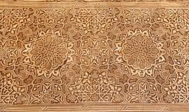 Detalj av islamisk (morisk) tilework på Alhambraen, Granada, Spanien arkivbilder