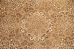Detalj av islamisk (morisk) tilework på Alhambraen, Granada, Spanien Royaltyfri Foto