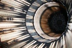 Detalj av jetmotorn F16 arkivbilder