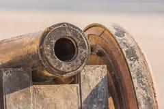 Detalj av kanonen Arkivbild