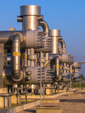 Detalj av kemisk bransch arkivfoton