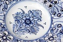 Detalj av keramik från Modra, Slovakien Arkivfoto