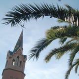 Detalj av klockatornet i parc Guell arkivfoton